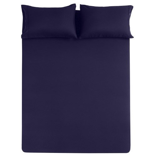 The Great American Store Bed Sheet Set - 25 inch Extra Deep - 4 Piece (Three Quarter, Solid Navy Blue) - 1800 Series Brushed Microfiber- Wrinkle & Stain Resistant ()