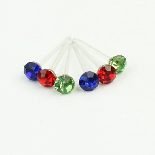 144 Paires 6 Boîtes Goujons Oreilles Strass Cristal Faux Diamant Bijoux Decor