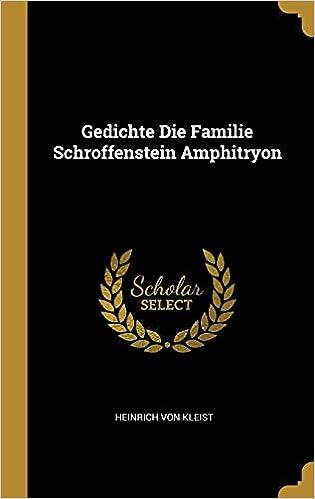 Amazonin Buy Gedichte Die Familie Schroffenstein