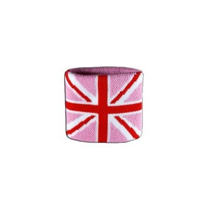 Digni reg Great Britain Union Jack pink Wristband sweatband set pieces free sticker Estimated Price £6.95 -