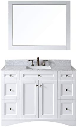 Virtu USA ES-32048-WMSQ-AWH Elise 48″ Single Bathroom Vanity