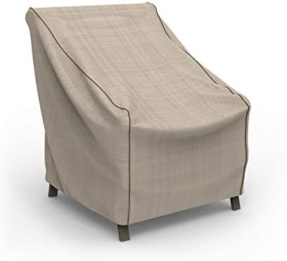 EmpirePatio Tan Tweed Patio Chair Cover, Extra Small
