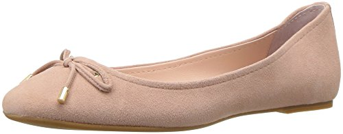 STEVEN by Steve Madden Women's Staple Ballet Flat, Blush Suede, 7.5 M US
