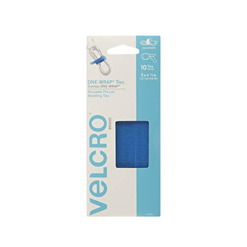 VELCRO Brand ONE-WRAP Ties | Cable Management, Wires & Cords | Self Gripping Cable Ties, Reusable | 10 Ct -  5