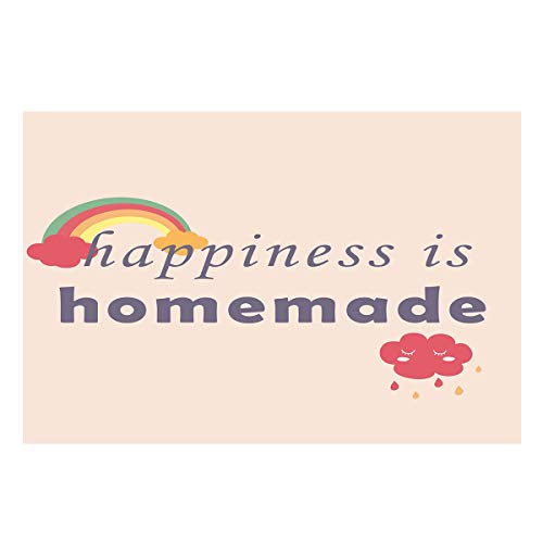 T&H Home Aquarium Décor Backgrounds, Happiness is Homemade Sign Fish Tank Background Aquarium Sticker Wallpaper Decoration Picture PVC Adhesive Poster 30.4