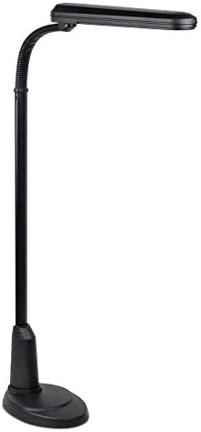 OttLite 24 Watt Floor Lamp with Flexible Neck and Weighted Base, Black
