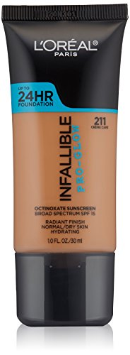 L'Oréal Paris Infallible Pro-Glow Foundation, Creme Cafe, 1