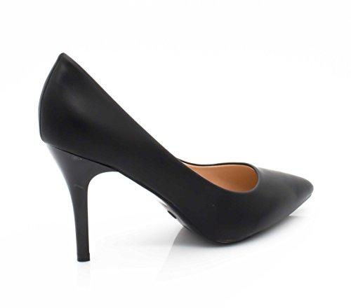 Shoes Mode 9cm Chaussures Escarpin à Fashion Escarpin Noir Femme Talon Fin Couleur Chic Escarpin et Très Femme uni Mariage Haut la pour Talon Cérémonie et dxX5IIg