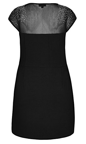 Size Roxanne Chic Plus Size City Mini 22 Ponte Black XL Dress aI7wSSxqE