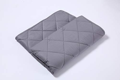 (Finslep 3.0 Breathable Weighted Blanket | Twill Cotton Queen Size Quilted Blanket | Good Solution for A Better Sleep | 100% Spotless Glass Beads | (Grey, 60