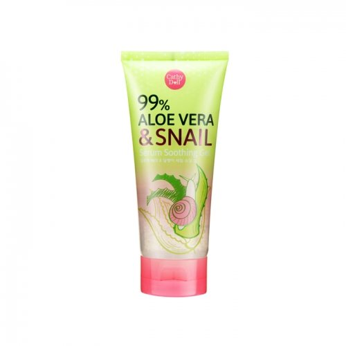 Aloe Vera   Snail Serum Soothing Gel 60G Cathy Doll