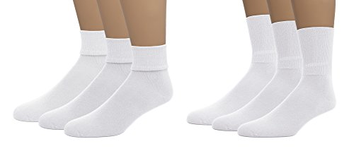 Crew Spandex Uniform - EMEM Apparel Boys Girls Baby Toddler Soft Bamboo Cotton Crew or Turn Cuff Triple Roll Socks 3-Pack White 00
