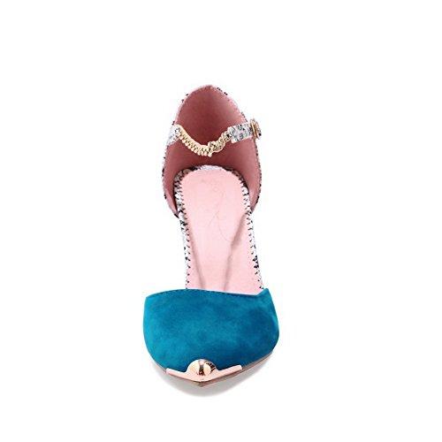 Valikoituja Väri Kantapää Asl04566 Nupukista No Balamasa Sininen resistant Sandaalit sulkemiseen Korkean Naisten Suljetun Toe Water Kevyt 0wxzUxq8a
