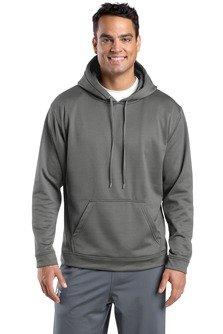 Sport-Tek Men's Sport Wick Fleece Hooded Pullover L Dark Smoke Grey (Fleece Sport Hooded Pullovers)