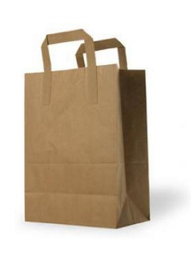 Amazon.com: 250 Medium Brown Kraft Paper Takeaway Bags 9x8x4 ...