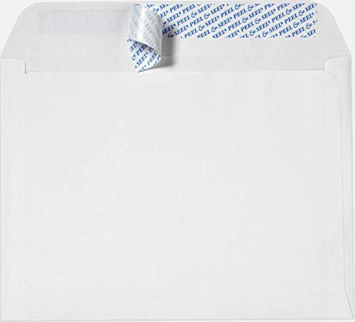 10' x 13' Booklet Envelopes, Peel & Seal, White, Heavy 28LB, 100 Count- Item# PSB1013W