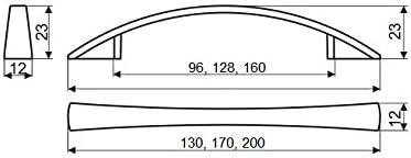 Tirador UN37 ba/ño o cualquier armario 1 unidad//Tiradores para cocina Cromo brillo CC 96
