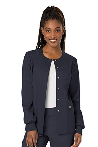 Cherokee Women's Snap Front Warm-up Jacket, Pewter, Small