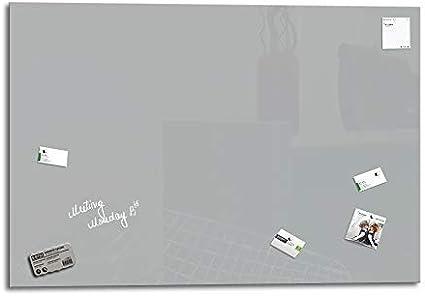 2 magneti SmartGlassBoard /® Lavagna magnetica in vetro//Lavagnetta 78 x 48 cm colore: Grigio finestra 1 pennarello