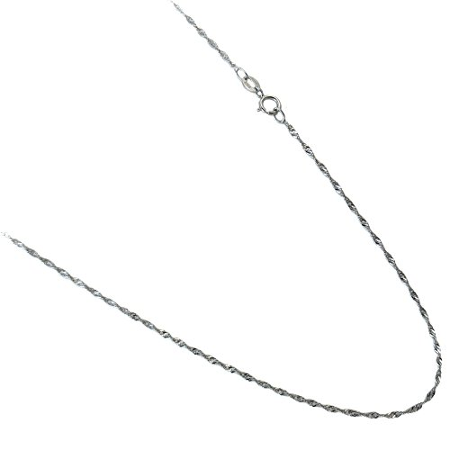 Sterling Silver 1mm Singapore Chain - 9