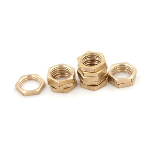 10PCS 1//4 BSP Female Thread Brass Hex Lock Nuts Pipe Fitting RH CaandShop TM