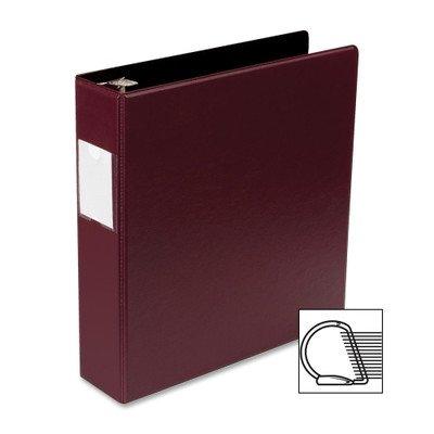 Source Slanted D-Ring Binder [Set of 2] Color: Burgundy, Size: 2''