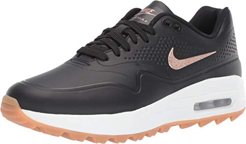 Nike Women's Air Max 1 G Golf Shoes(Black/Red Bronze/Brown,8.5,B (M) US)