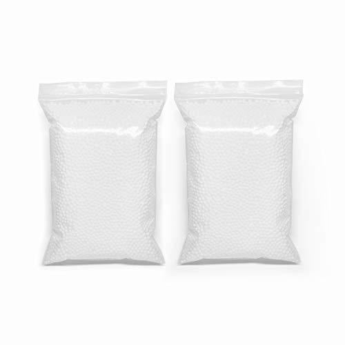 Styrofoam Foam Balls, Colorful Mini Polystyrene Styrofoam Foam Craft Round Balls Beads for Slime Wedding Celebration Decoration, 2 Pack, 48.8 Cubic Inches in Total, White -