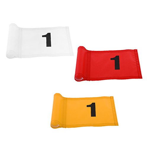 Baosity Pack 3 Golf Putting Green Flag Golf Target Flag for Golfer Backyard Training Gear Accessories by Baosity