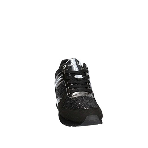 Tommy Hilfiger , Damen Outdoor Fitnessschuhe schwarz schwarz / schwarz 40 Schwarz-Silber