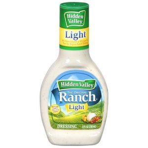 Hidden Valley Light the Original Ranch Dressing, 8 Oz (Pack of 3)