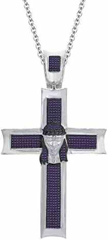 Dividiamonds 14K White Gold Plated 925 Silver 1.35Ct Round D//VVS1 Diamond Praying Hand Pendant 18 Chain