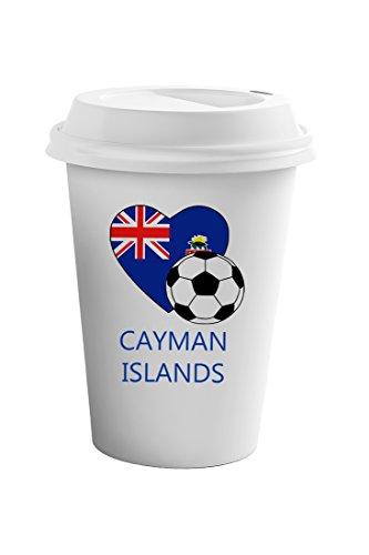 Cayman Travel Tumbler - Style In Print Love Soccer Heart Cayman Islands Style 2 Coffee Ceramic Travel Tumbler Mug 11oz