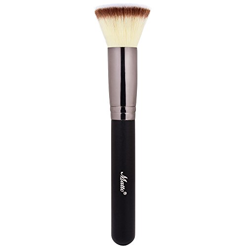 Matto Flat Kabuki Foundation Brush - Flat Top Makeup Brush for Foundation Blending Liquid Cream Mineral Powder 1 Piece (Best Type Of Brush For Liquid Foundation)