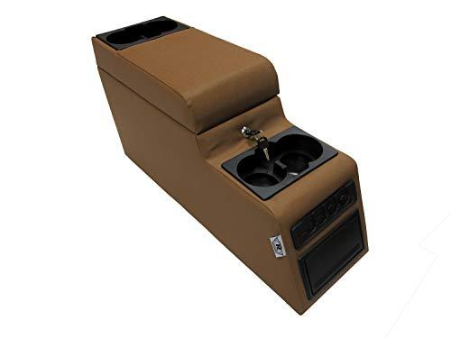 RAMPAGE PRODUCTS 31517 Locking Center Console for 1976-1983 Jeep CJ & Wrangler YJ, Spice Denim