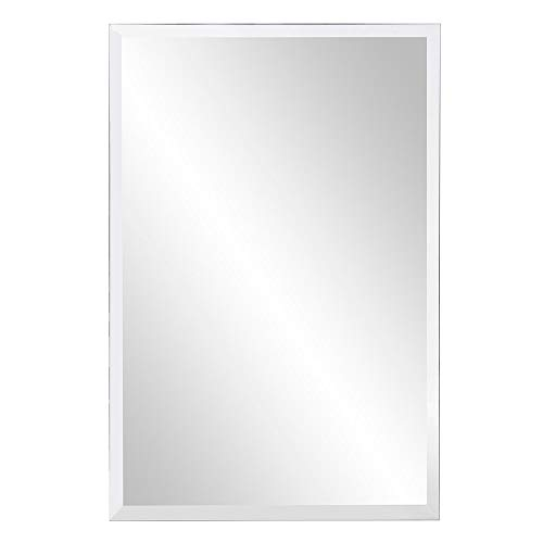 KOHROS Rectangle Beveled Polished Frameless Wall Mirror for Bathroom, Vanity, Bedroom (24