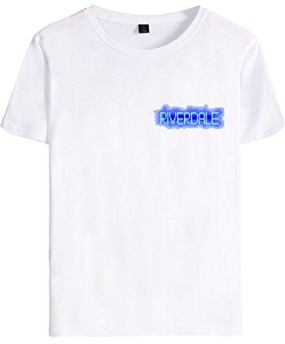 Blanco Deportiva Para Letra Moda Camiseta Serpiente Hombres Logo Riverdale Emilyle Mujeres tOqYwvzO