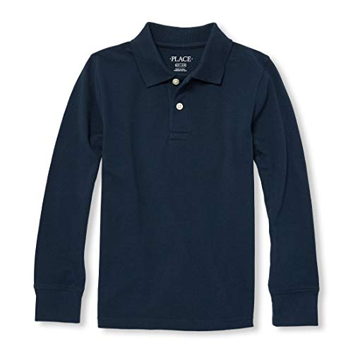 - The Children's Place Big Boys' Long Sleeve Uniform Polo, Nautico, Medium/7/8