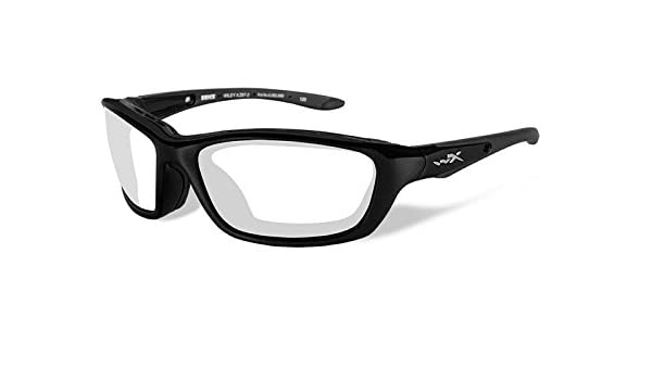 Wiley X Brick Sunglasses Clear Lens Gloss Black Frame