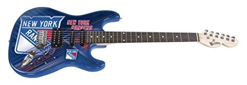 (Woodrow Guitar by The Sports Vault NHL New York Rangers Northender Electric Guitar)