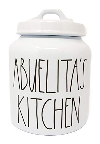 Limited Edition Ceramic - Rae Dunn By Magenta ABUELITA'S KITCHEN Ceramic LL Canister Limited Edition Spanish Collection