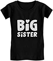 Big Sister - Elder Sibling Gift Idea Cute Toddler/Kids Girls Fitted T-Shirt