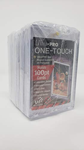 (10 Ultra Pro 100pt Magnetic Card Holder Cases - Holds Thick Baseball, Football, Hockey Cards)
