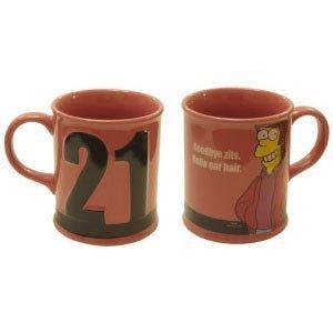 Taza 21st birthay simpsons