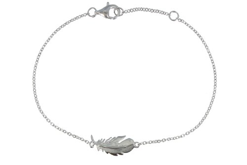Les Poulettes Jewels - Sterling Silver Bracelet with Bird Feather by Les Poulettes Jewels (Image #5)