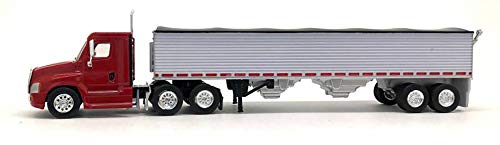 a Day Cab (Red) 40' Grain Trailer 1:87 (HO Scale) Model ()