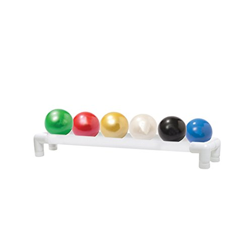 Thera-Band Soft Weights ball - 6-piece set (1 each: tan, yellow, red, green, blue, black), with 1-tier rack by Thera-Band_ Soft Weightþ