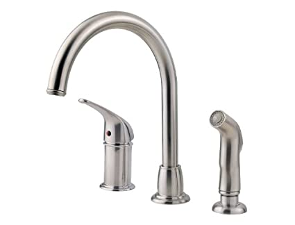 Pfister LF-WK1-680S Cagney 1-Handle Kitchen Faucet with Side Spray ...