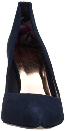 Ted Baker Women's Saviy PATL AF Formal Shoe Dress Pump Dark Blue Suede bByMWQE