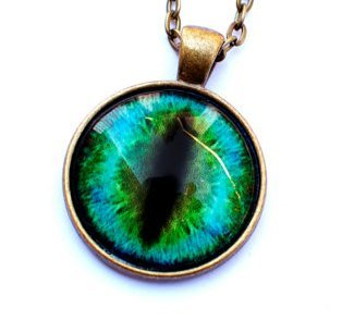 Amazon green cat eye necklace eyeball necklace eye pendant green cat eye necklace eyeball necklace eye pendant cat necklace aloadofball Choice Image